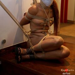 Suffering in full view  #RopeMarks #Joan #Belle #StereoEye #Stereo #Eye #derToni #Toni #miyuki #rere #Japanese #Rope #Bondage #shibari #kinbaku #gag #Tenugui #neck #breathplay #breath #play #public #sexy