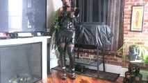 Latex upskirt panties