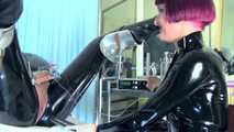 Mistress Tokyo - Rubber Domme with extreme boots and anal play