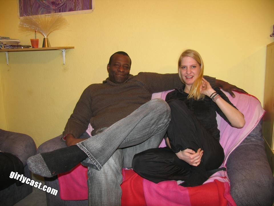 Teen Kati's first BBC while her boyfriend is watching - Pics