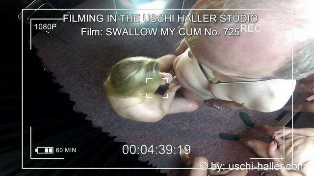 FILMING IN THE USCHI HALLER STUDIO –  SWALLOW MY CUM #1