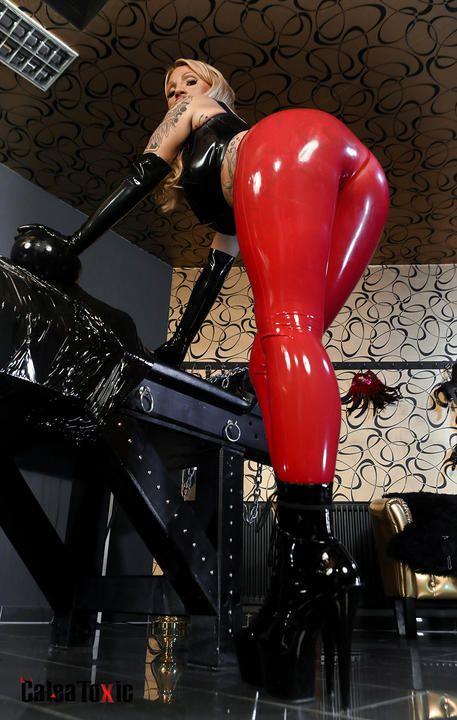 Shiny Leggings (red/white)