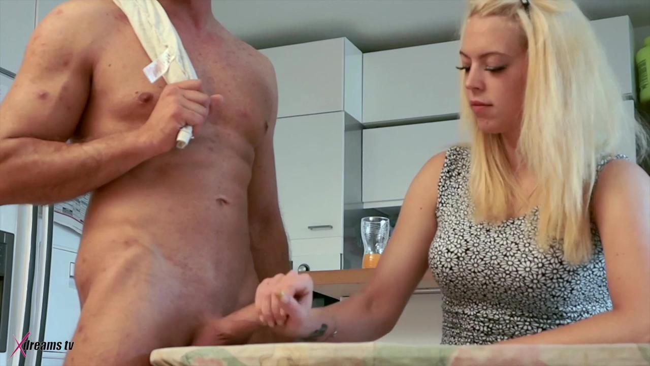Penny's Cock Ironing And Cum Burning Handjob