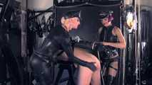 Mistress Tokyo & Sindy Skin - Double Domme strap on!
