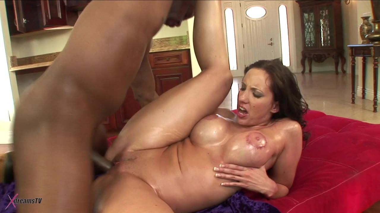 Black & White - Kelly Divine - The Big Busty MILF Gets A BBC Anally Fuck