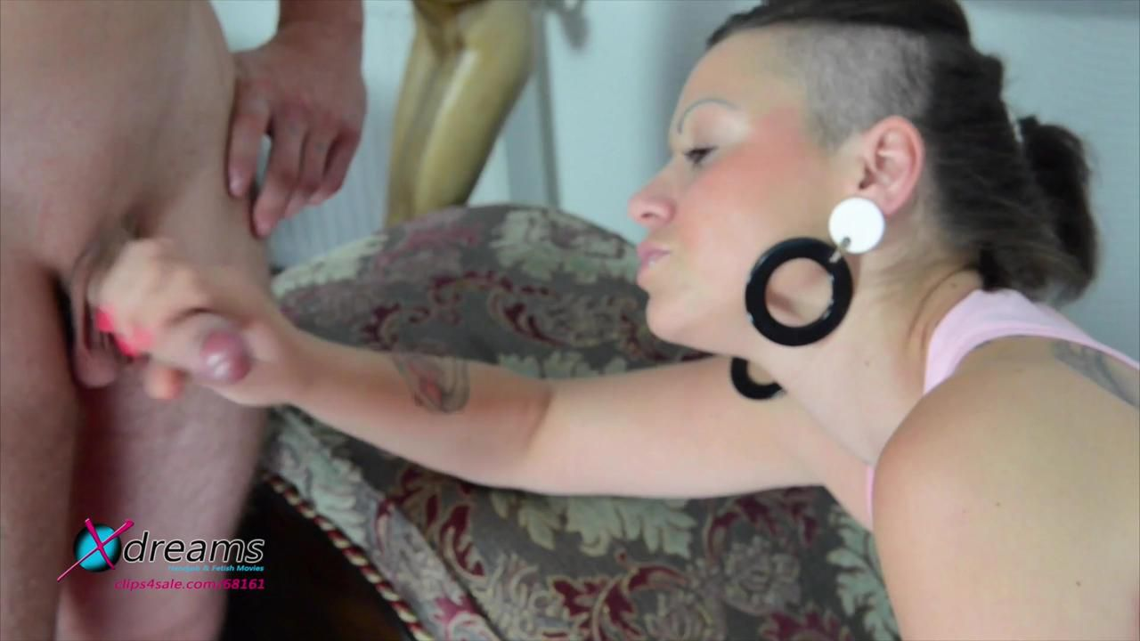 Punk Girl Handjob Action