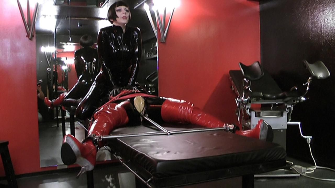 Madame Zoe - Rubber Doll Bondage Part1