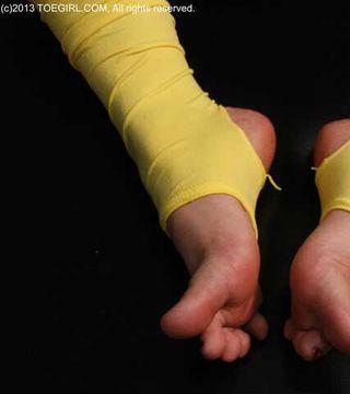 Toeless Heelless Yellow Tights
