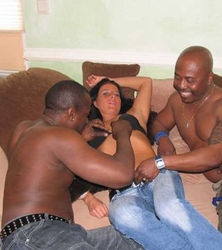 Nadja BBC threesome shooting with Cuckold