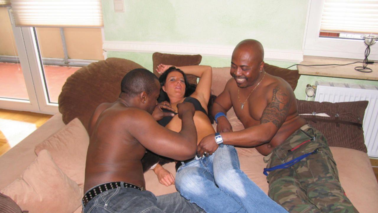 Nadja BBC threesome shooting with Cuckold