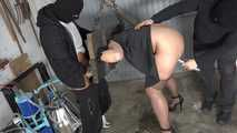 Jolie milked in the pillory