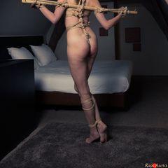 Anal predicament #ropemarks #spring #kinkystyle #japanese #rope #bondage #shibari #kinbaku #bamboo #anal #hook #drooling #sexy