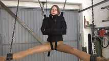 Blowjob and fist in the straight jacket