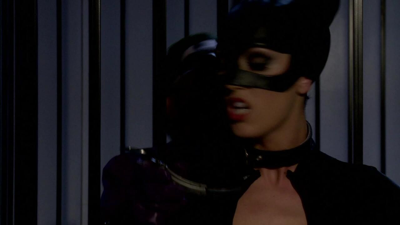 Catwoman meets Joker Into A Prison Cage 3way