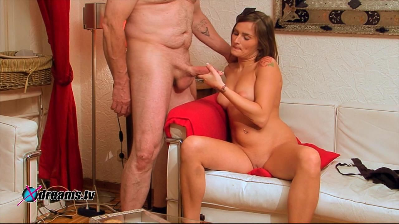 Holly's Tight-Laced Balls Handjob