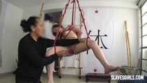 Intense ORGASM in suspension