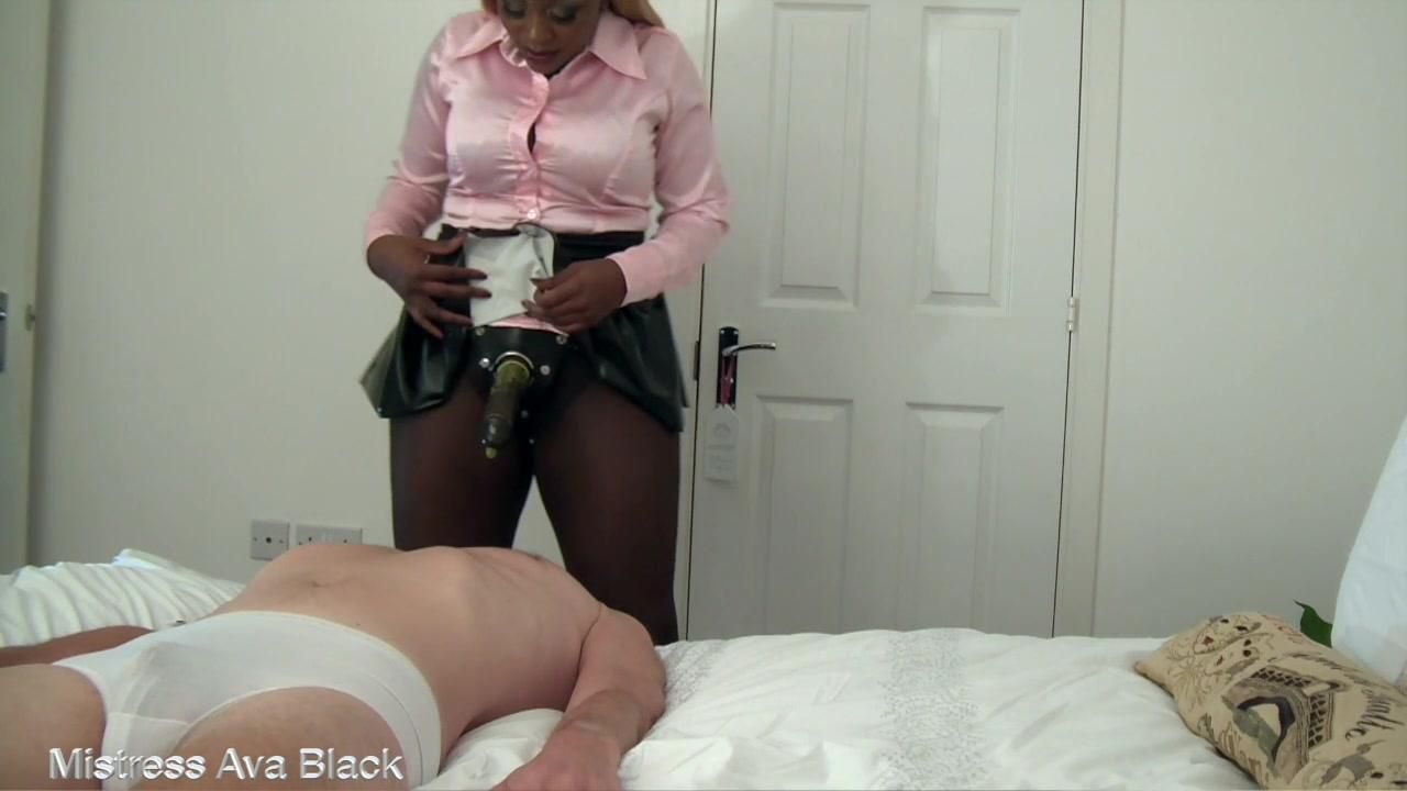 Gag on cock sissy bitch!