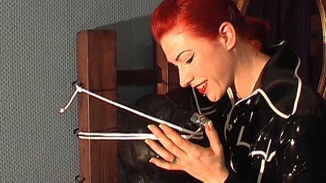 Lady Alexa - GasMask play with Chastity