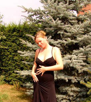 Justine in her garden