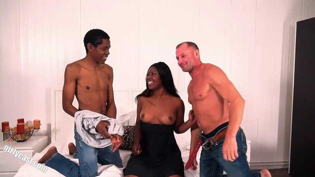 Sunny our black sunshine - threesome with BBC