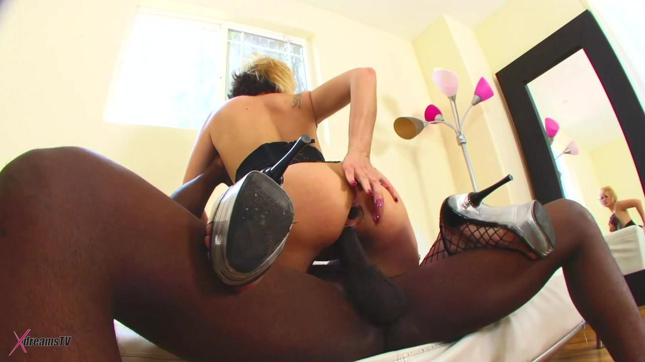 Black & White - Sunny Day The Big Busty MILF Gets A BBC Anally Fuck