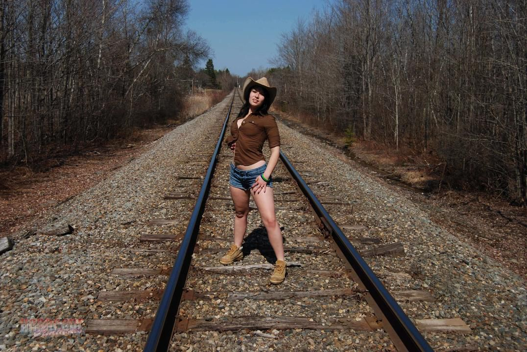 Naked At The Rail Tracks