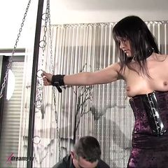 """We just made another sale of """"To Bent Yvette To One's Will For My Sexual Pleasure""""!<br /><br />#BDSM #BondageSex #Domination<br /><br />Featuring Yvette<br /><br />#yvette #darkhair #longhair #white/caucasian #bondagedevice #bondagerack #clamps #cumonass #cumshot...<br /><br />👉http://xdreamstv.com/1061974839👈 #Shopmaker"""