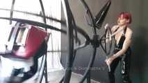 Bondage Gyroscope Clip 3 - slave in the gyroscope