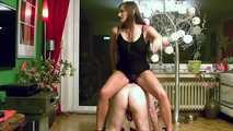 Holly's Old Fart On Knees Jerking Handjob