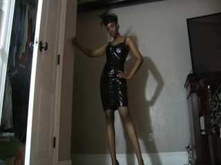 Latex Skirt Flirt