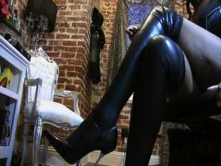 Latex slick legs