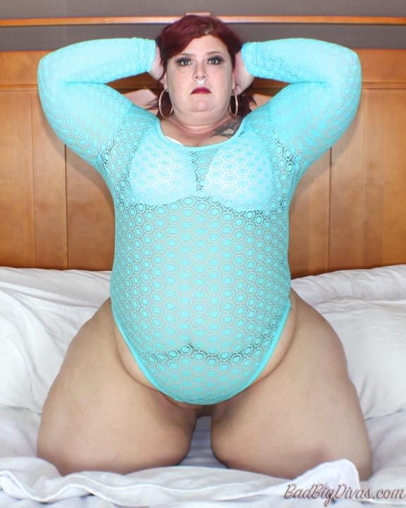 Nikki Cakes in Light blue outfit