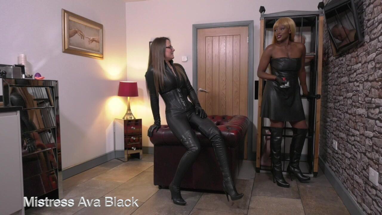 Leather spanks!