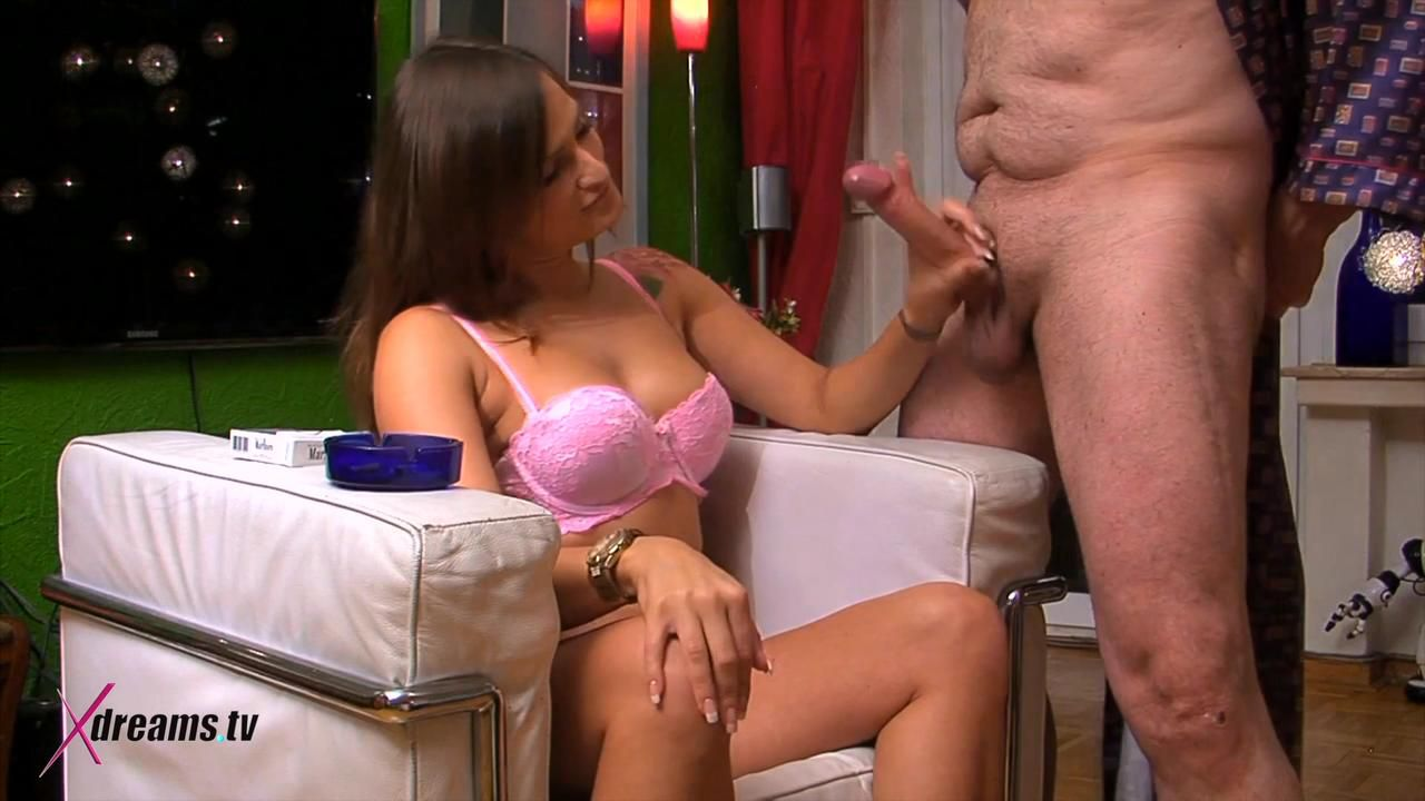 Holly Jerking Off Her Stepdad To Spread His Cum Over Her Breast