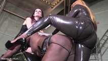 Whores ride Mistress she-cock - Full clip