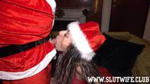 [Blasen und Ficken] Candy Girl bringt Santa Klaus zu Weihnachten zweimal zum Abspritzen