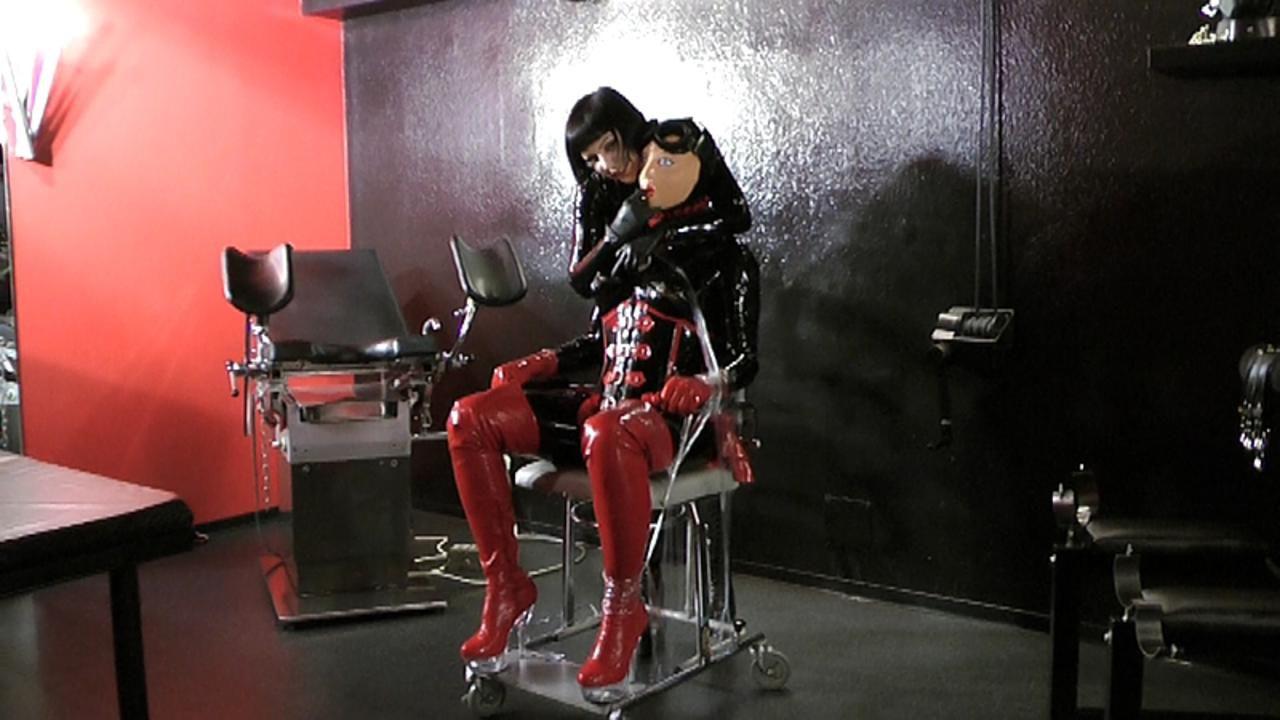 Madame Zoe - Rubber Doll Bondage Part2