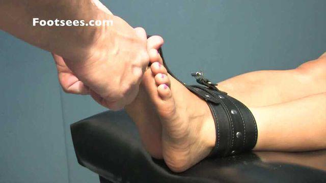 Barefoot Bastinado in Ankle Cuffs