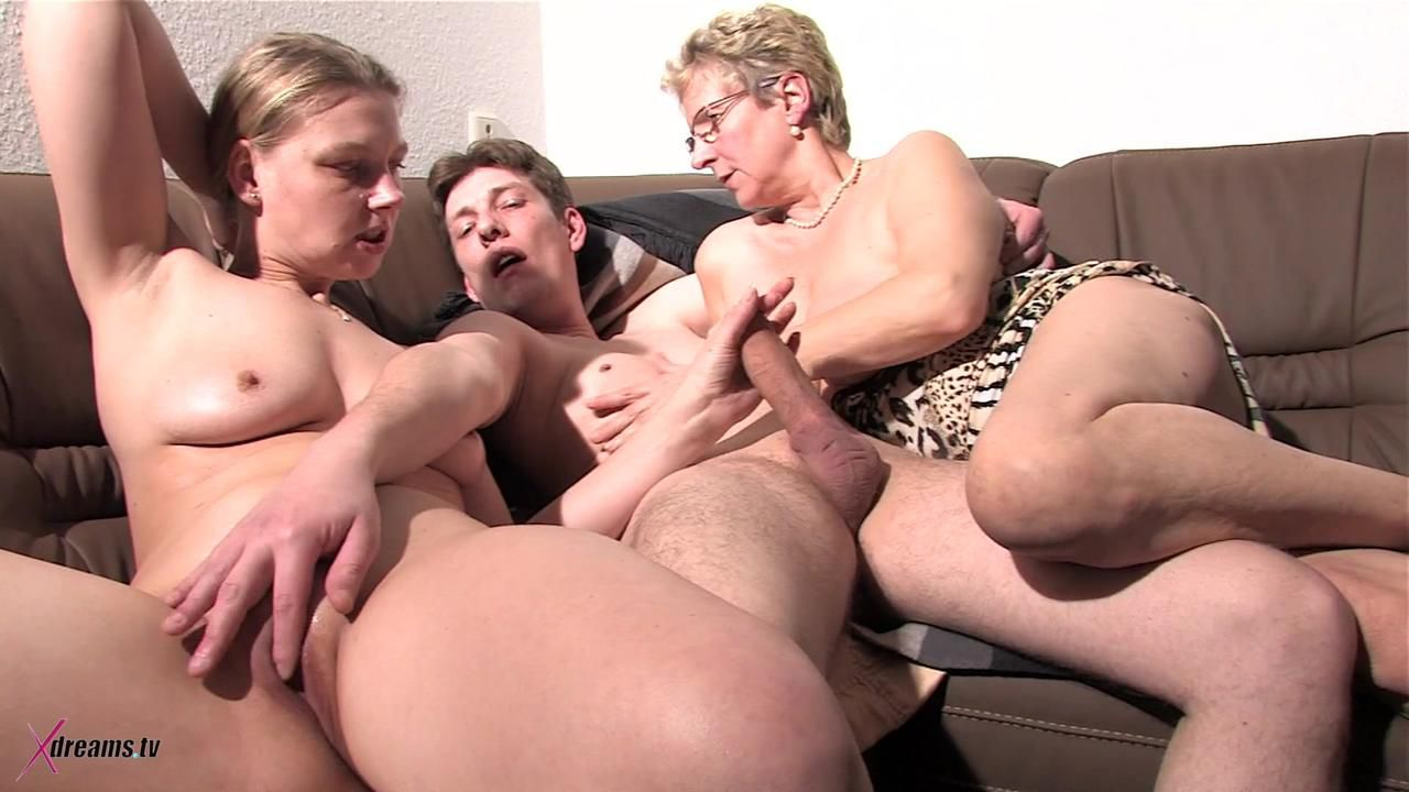 Anally Threesome Party - Men Gets Fucked Up By Two Women