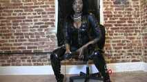 Latex boot seductress