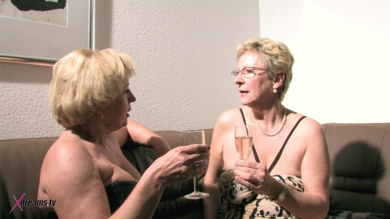 Horny Grannies With Big Saggy Tits Loves Having Lesbian Sex