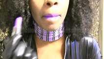 Latex Purple lips