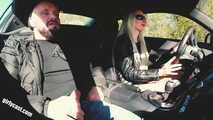 Audi R8 test drive and outdoor porn