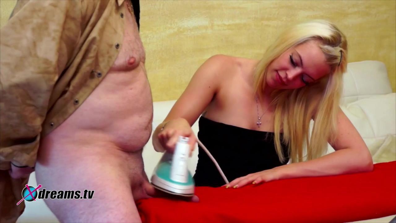 Penny's Flatten Cock Cum Smearing Handjob