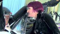 """Mistress Tokyo - Rubber Domme with 12"""" Heel Fetish Boots, E-stim and Hitachi"""