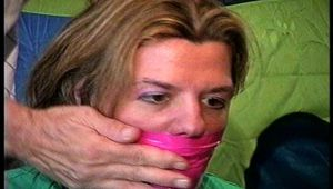 38 Yr OLD SOCIAL WORKER GETS HANDGAGGED, WRAP BONDAGE TAPE GAGGED, DOES RANSOM CALL, GAG TALKING, MOUTH STUFFED, CLEAVE GAGGED & F0RCED TO CHANGE CLOTHS (D75-13)