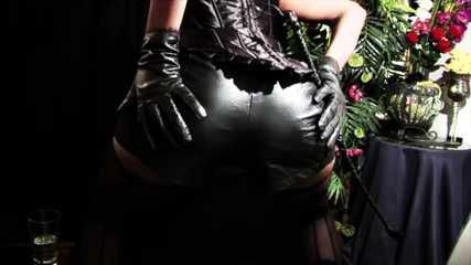 Black leather love dominatrix
