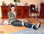 Akasha in a new Hogtied-Bound