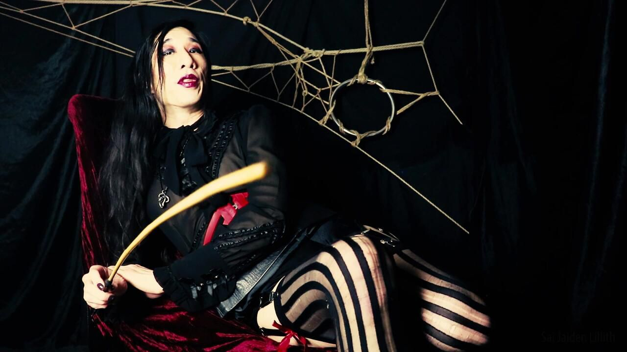 Headmistress Lillith - Distracted & Caned (Solo - Leg / Boot Fetish)