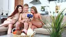 Anally Threesome Party - Men Gets Fucked Up By Two Women - Scene 2